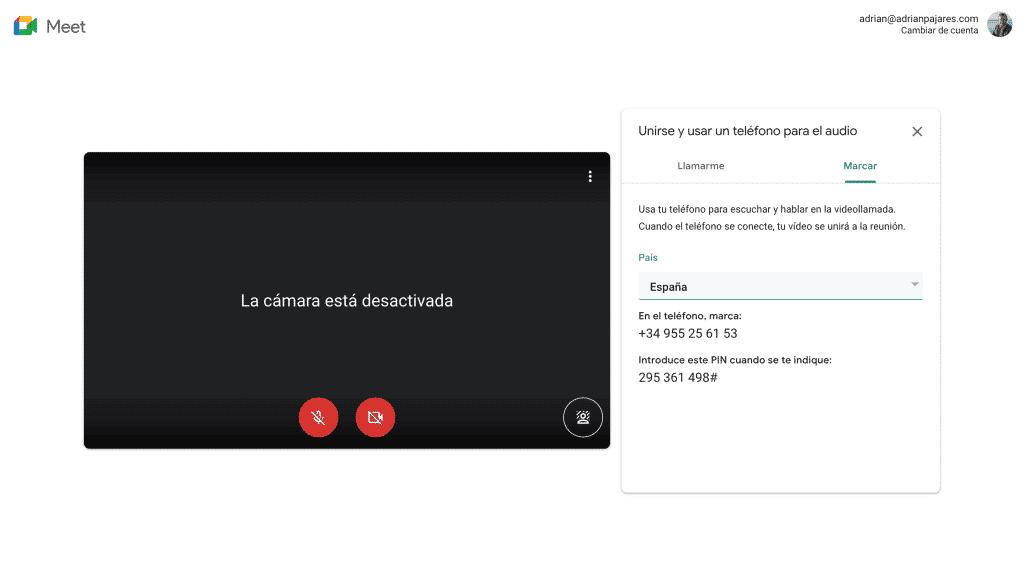 Cómo usar tu teléfono con Google Meet 4